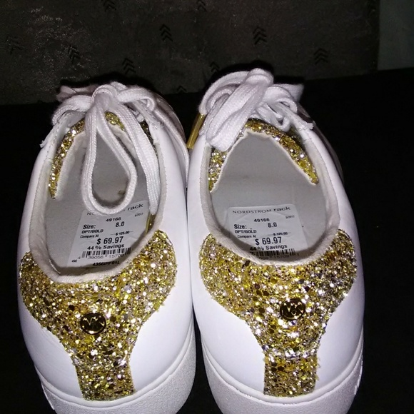 789608a10105 Michael Kors gold bling sneakers